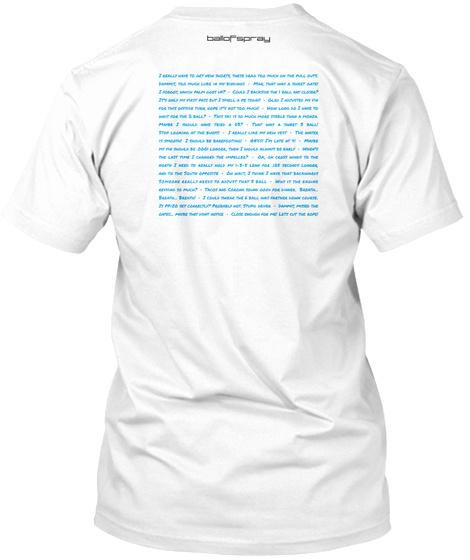 Balofspray White T-Shirt Back