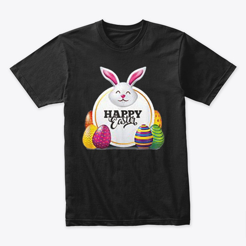 Happy Easter T Shirt 2021 Black T-Shirt Front