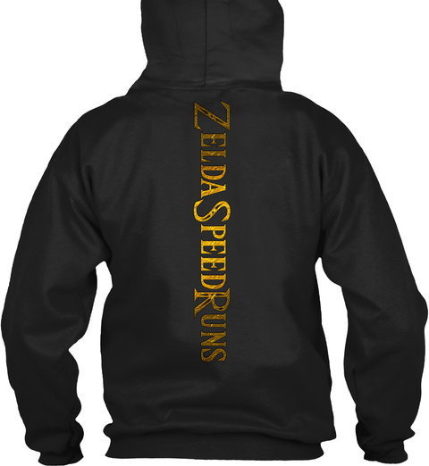 Zelda Speedruns Black Sweatshirt Back