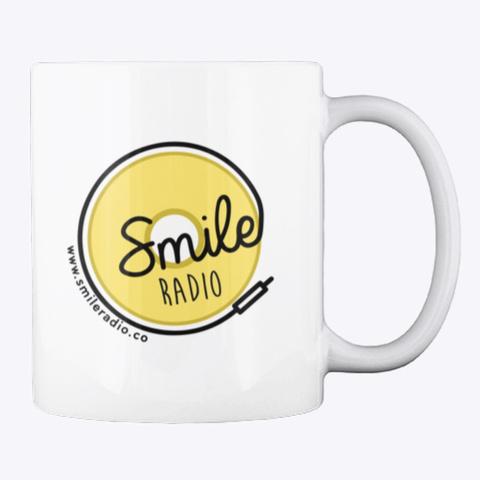 Smile Radio Merch White T-Shirt Back