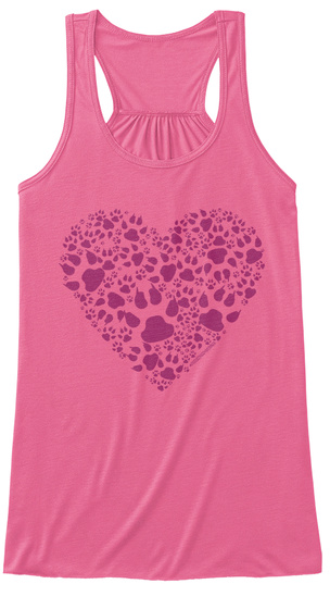 Proud Doggy Mama Neon Pink Women's Tank Top Front
