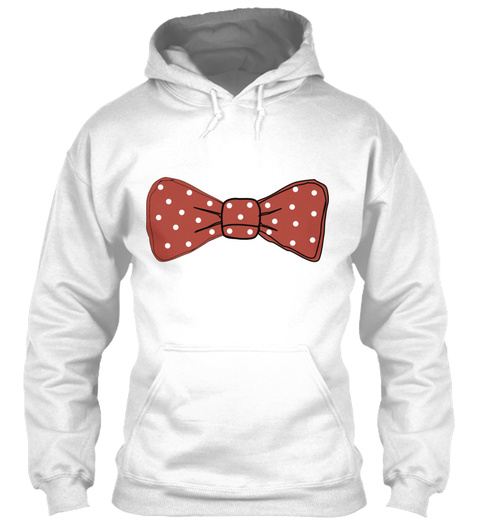 Bow Tie Fly Suit Gift Present Dotted Poi White T-Shirt Front
