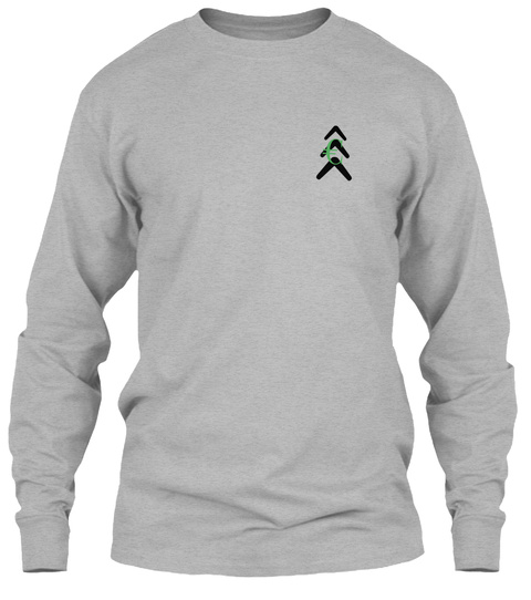 "Evergreen ""Blessed"" Long Sleeve Tee Sport Grey Long Sleeve T-Shirt Front"