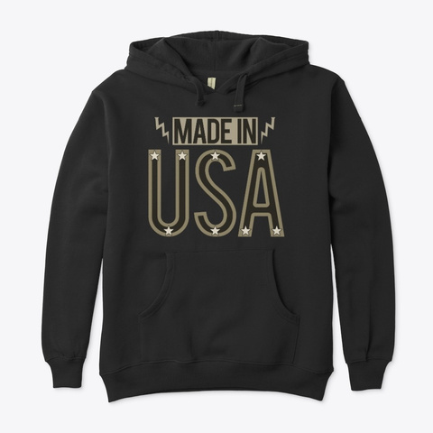 Made In Usa   Black Black T-Shirt Front