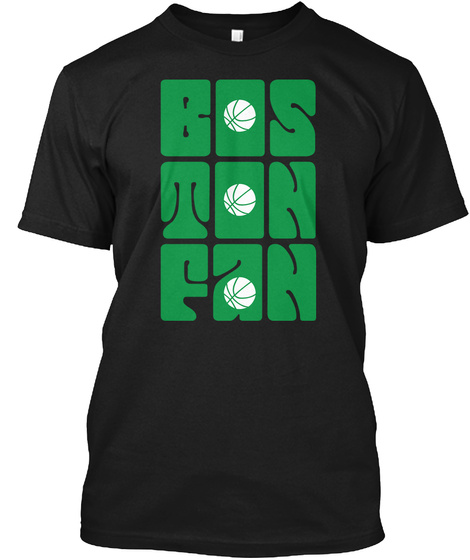 Boston Fan Black T-Shirt Front