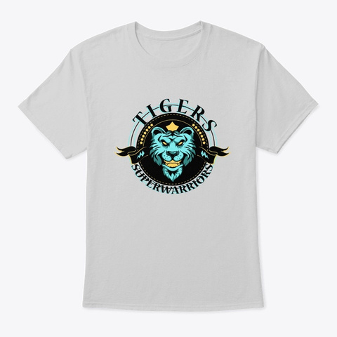 Tigers Superwarriors   Awesome Tigers Lo Light Steel T-Shirt Front