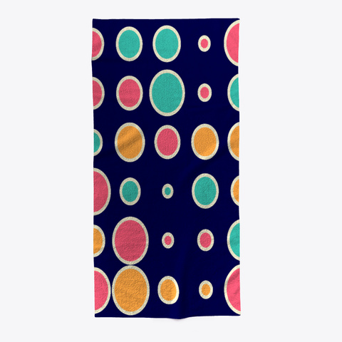 Pattern Beach Towel Dark Navy T-Shirt Front