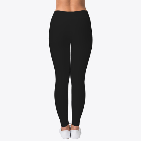 Women's Logo Design Leggings Black T-Shirt Back