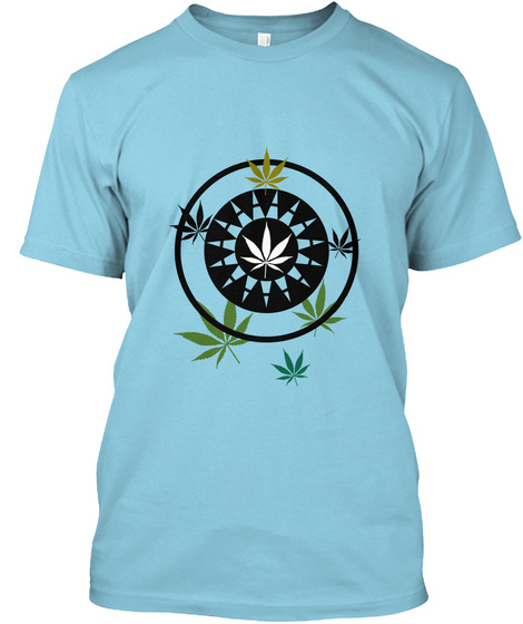 Weed Box T Shirt 2 Light Blue T-Shirt Front