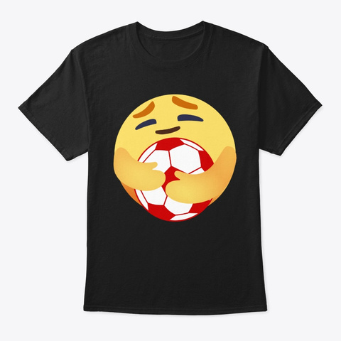 Funny Care Soccer T Shirt Black T-Shirt Front