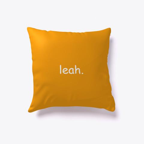 Leah. Orange T-Shirt Back