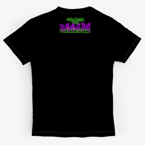 "Boogie Monsta  ""I Know Things.."" T Shirt Black T-Shirt Back"
