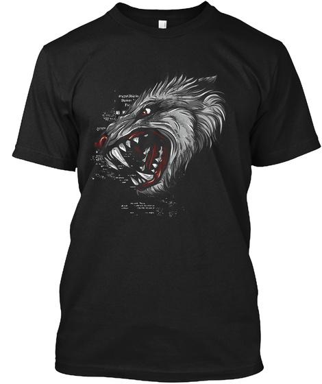 Goth Wolf T Shirt Black T-Shirt Front