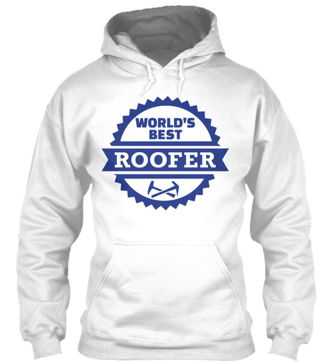 Roofer White T-Shirt Front