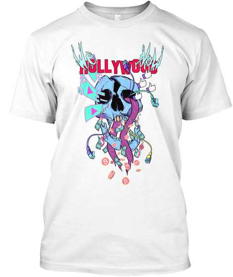 Hollywood White T-Shirt Front