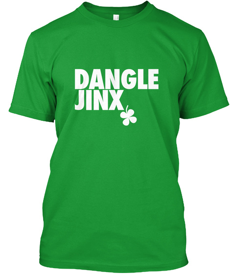Dangle Jinx Kelly Green T-Shirt Front
