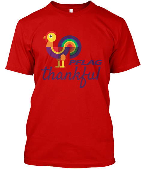 Pflag Thankful Classic Red T-Shirt Front