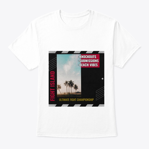 Fight Island   Ko's   Subs   Beach Vibes White T-Shirt Front