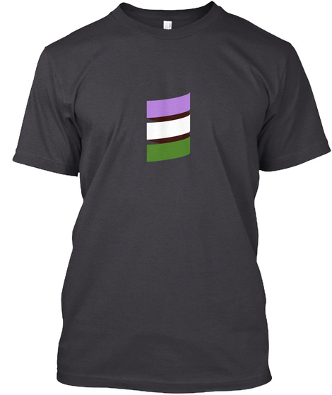 Scala Pride (Genderqueer Pride) Charcoal Black T-Shirt Front