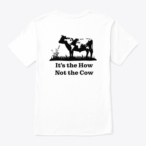 Eom Colour Logo + How Not Cow White T-Shirt Back