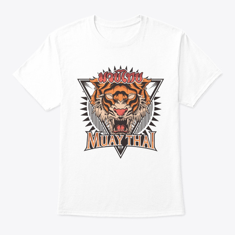Tigar Muay Thai Mma Vintage Kickboxing T White T-Shirt Front