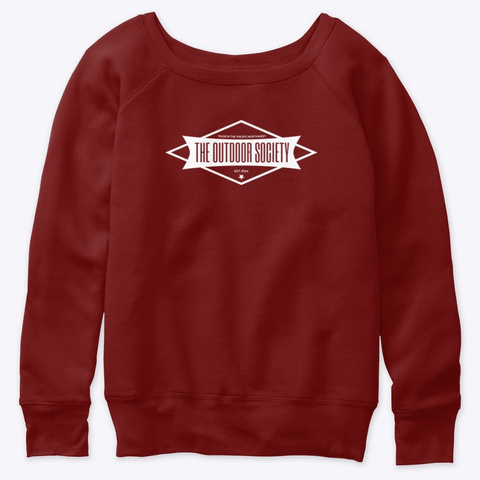 The Outdoor Society Logo Dark Red Triblend T-Shirt Front
