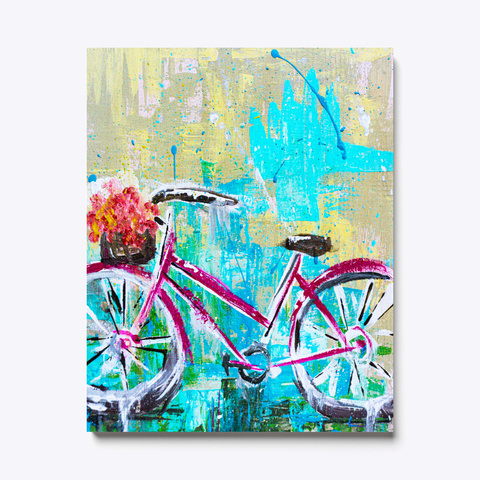 Shabby Chic Bike Bicycle Painting Art Standard T-Shirt Front
