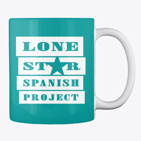Lone Star Spanish Project Logo   Solid Aqua T-Shirt Back