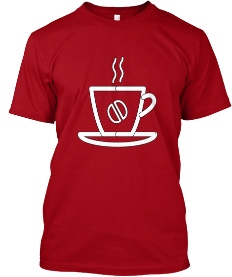 College Deep Red T-Shirt Front