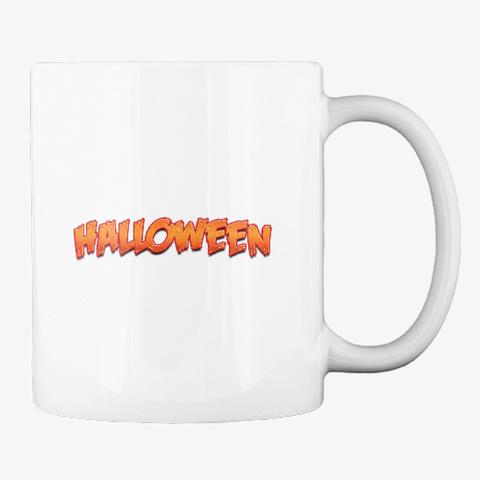 Halloween Mug White T-Shirt Back