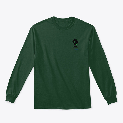 New Paladin Logo Long Sleeve Forest Green T-Shirt Front