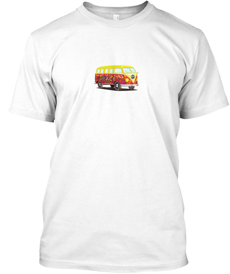 Peace Bus Eu White T-Shirt Front