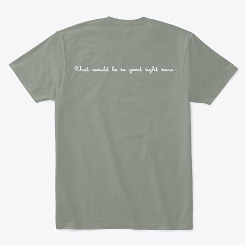 Feast Mode Grey T-Shirt Back