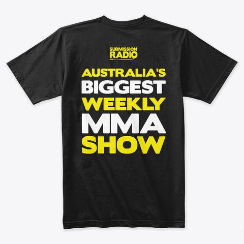 Submission Radio Classic Apparel Black T-Shirt Back