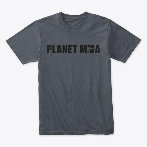 Planet Mma Logo Black Heavy Metal T-Shirt Front