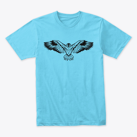 Eagle  Tahiti Blue T-Shirt Front