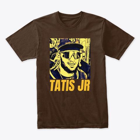 Fernando Tatis Jr. Friar Lounge Ylw Design Dark Chocolate T-Shirt Front