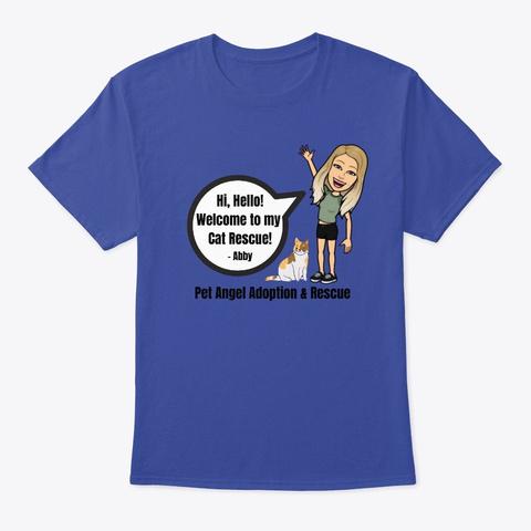 Abby's Greeting Shirt Deep Royal T-Shirt Front