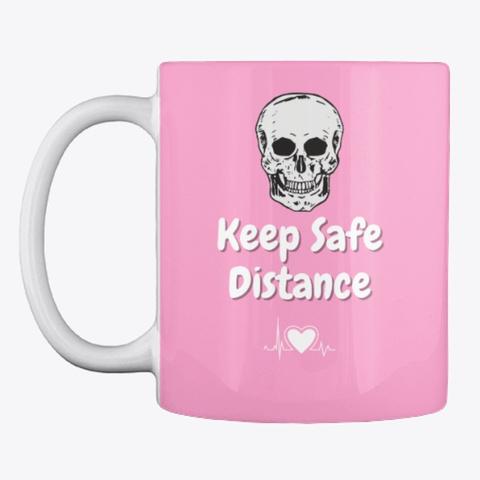 Keep Safe Distance Pink Camo T-Shirt Front