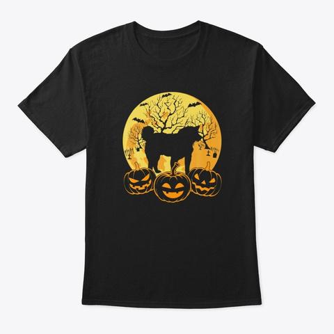 Funny Shiba Inu Dog Pet Lover Halloween Black Maglietta Front