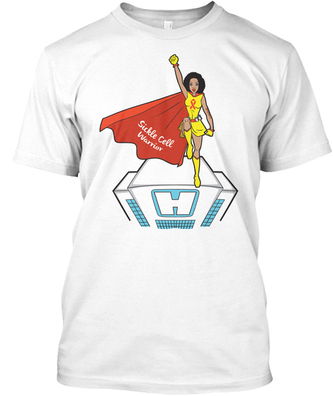 Female Sickle Cell Warrior White T-Shirt Front