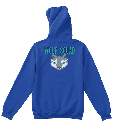 Wolf Squad Royal T-Shirt Back