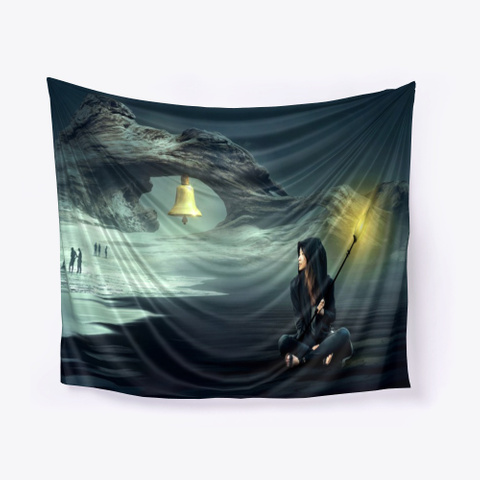 Fantasy Cave Wall Tapestry   Pillow Standard Camiseta Front