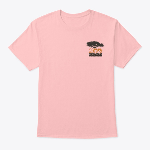 Zoo Church Pale Pink Camiseta Front