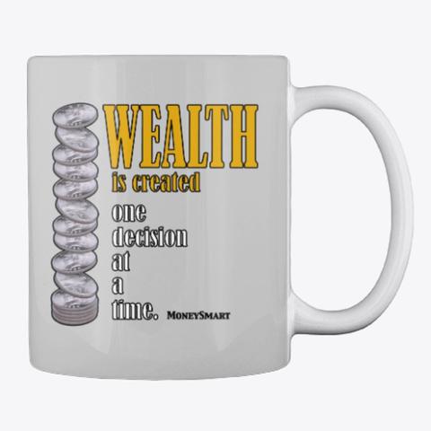 Money Smart Wealth Light Grey T-Shirt Back