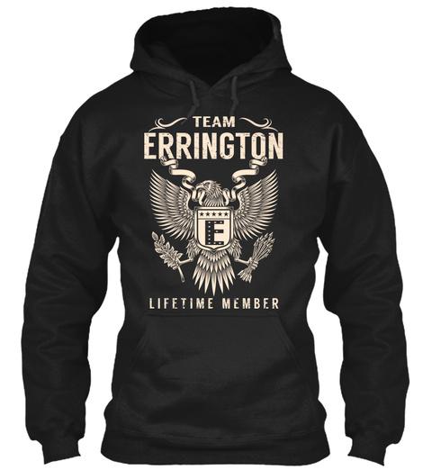 Team Errington Lifetime Member Black T-Shirt Front