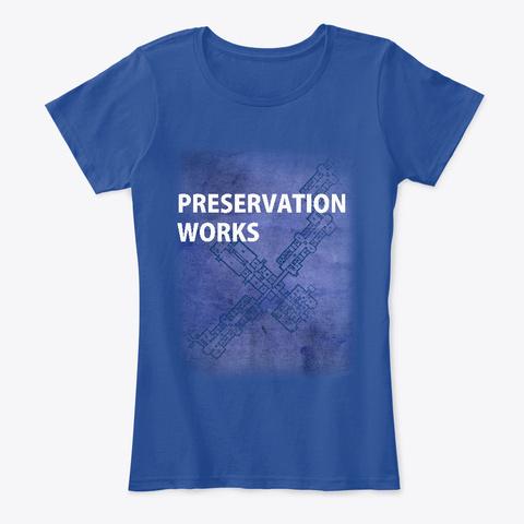 Blueprint Women's Tee Deep Royal  T-Shirt Front