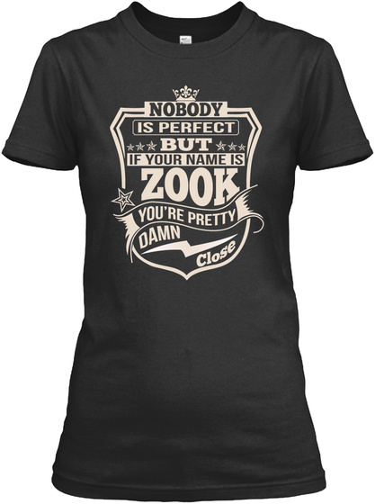 Nobody Perfect Zook Thing Shirts Black T-Shirt Front