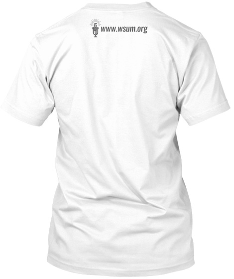 Wsum Madison Isthmus White T-Shirt Back