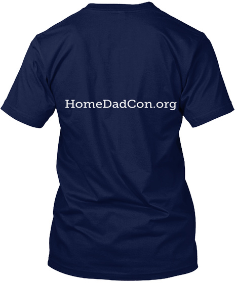 Homedadcon.Org Navy T-Shirt Back